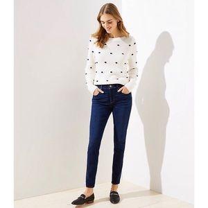 LOFT Modern Skinny Jeans in Luxe Dark Wash